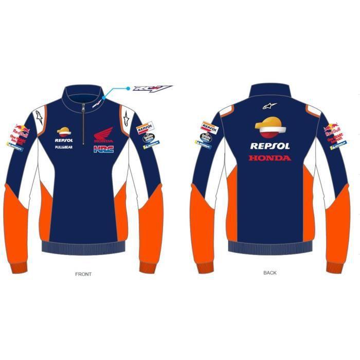 Sweat a Capuche Zip Honda Repsol Dual Marc Marquez 93 Big 93 Officiel MotoGP