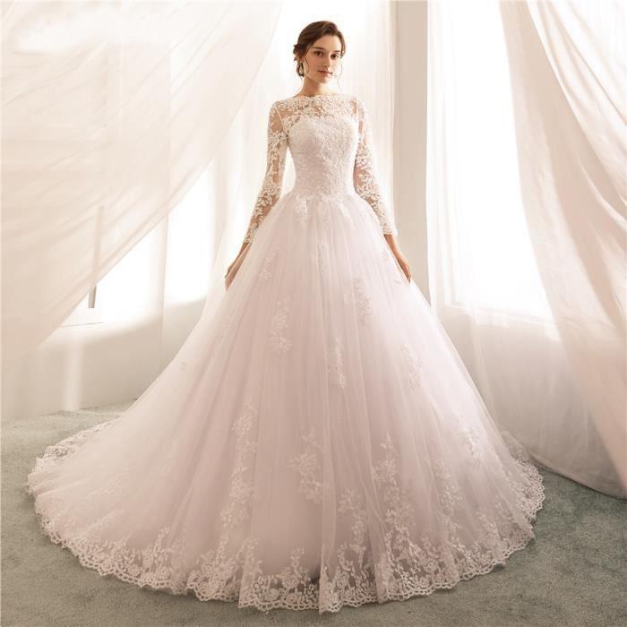 Robes de mariée Vintage avec manches longues