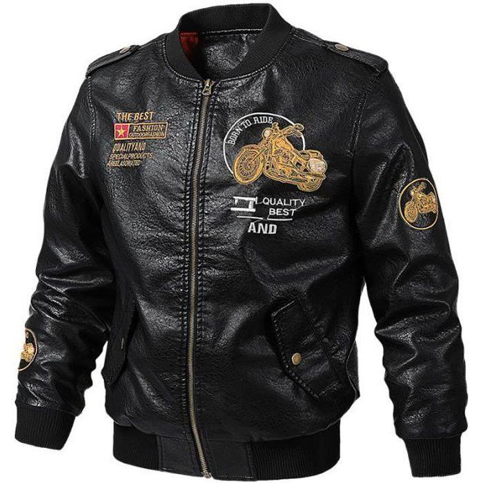 Homme harrington veste aviateur rétro classique vintage zip manteau stallion nouveau années 1970