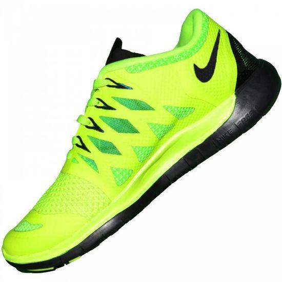 Nike - Basket Running - Femme - Free Run 5.0 - Vert Fluo ...
