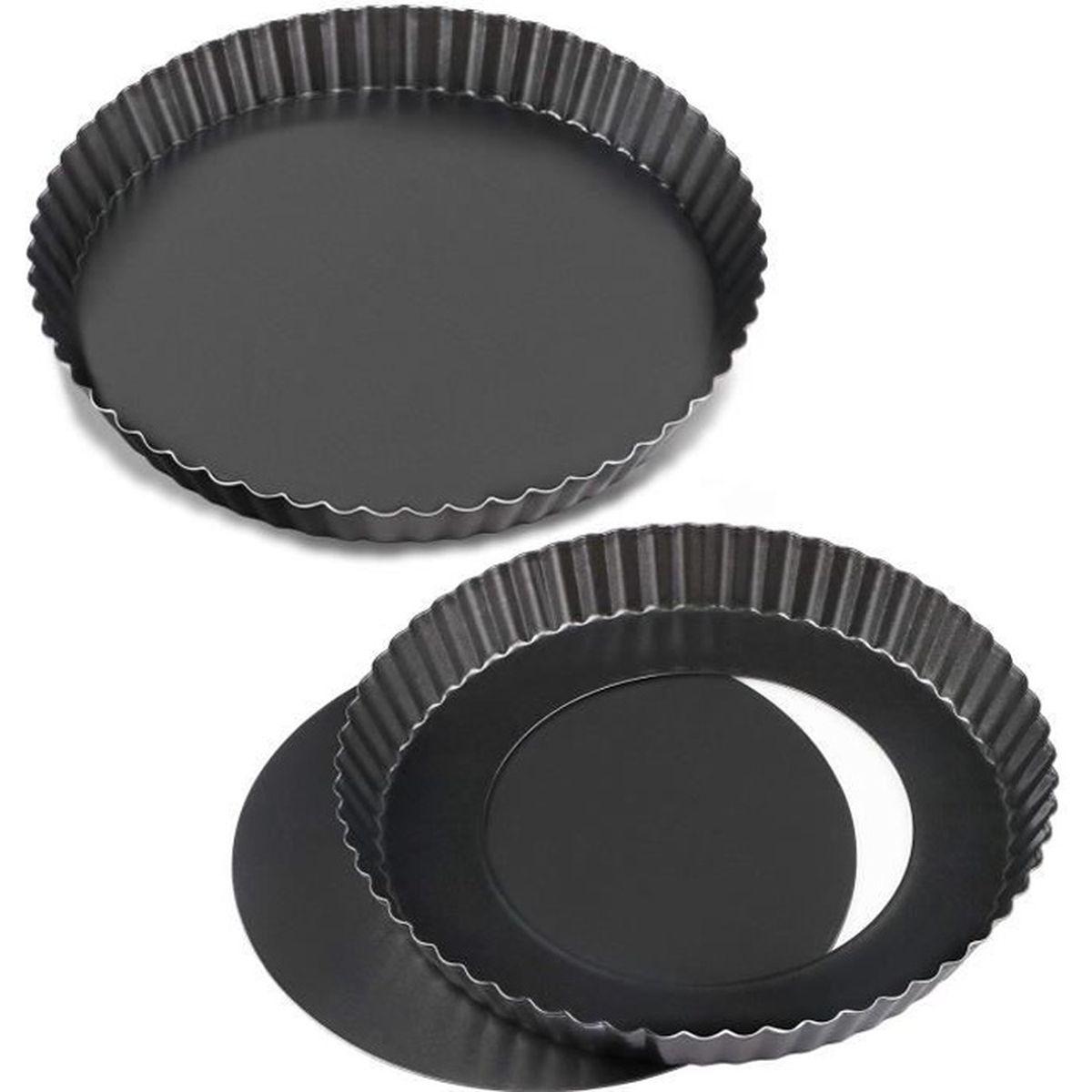 Moule A Tartelette Professionnel plats antiadhésifs de 8 po à quiche de , moule à tarte tarte