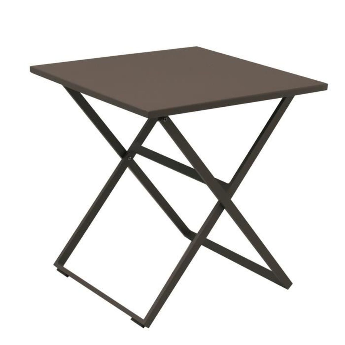 Table exterieur pliante carr e en aluminium rosy tresi for Table d exterieur en aluminium