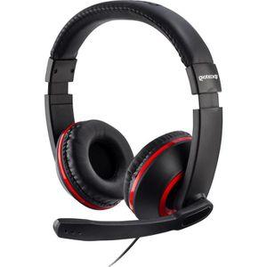 CASQUE AVEC MICROPHONE Casque Gaming Stéréo XH100 Rouge pour PS4, Xbox On