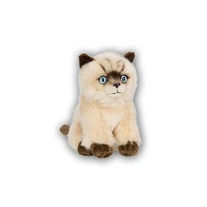 PELUCHE Acp 28179012 - Chat Siamois Assis - 15 Cm N6CE1