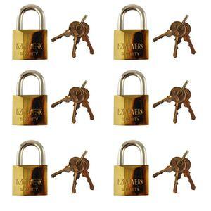 50mm long manille laiton cadenas 3 clés de sécurité//verrou//hangar//garage TE620
