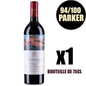 VIN ROUGE X1 Château Mouton Rothschild  2010 75 cl AOC Pauil