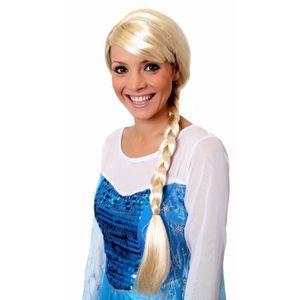CHAPEAU - PERRUQUE Perruque blonde avec une longue tresse de princess