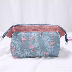 Trousse de Toilette /à Suspendre de Voyage Organisateur cosm/étique pour Femmes Filles Grand Flamingo