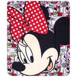 COUVERTURE - PLAID Plaid polaire Minnie Mouse couverture enfant BD GU