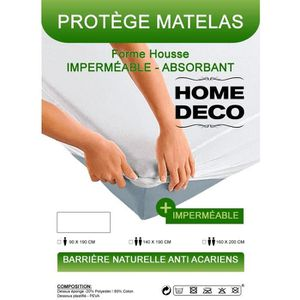 PROTÈGE MATELAS  Protège-Matelas Alèses 160X200cm 2personnes