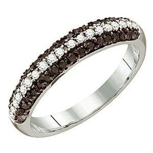 BAGUE - ANNEAU Bague Femme Diamants 0.49 ct  10 ct 471-1000 Or Bl
