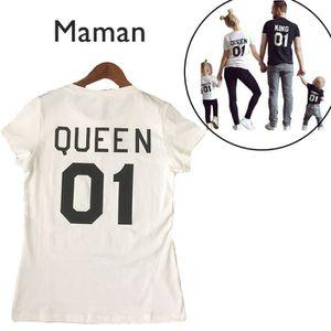 T-SHIRT T Shirt Homme King&Queen Imprimé T-shirt Femme ete