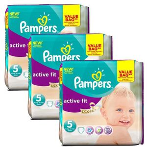 COUCHE Giga Pack 141 Couches Pampers Active Fit taille 5