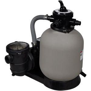 POMPE - FILTRATION  Pompe à filtre à sable 600 W 17000 l-h avec pompe