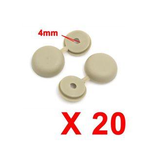 VIS - CACHE-VIS RIVET sourcingmap® 20pcs 4mm Beige Cache-vis artic