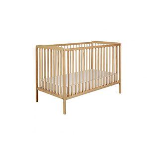 LIT BÉBÉ Lit bébé à barreaux 60x120 en bois naturel   matel