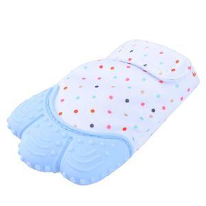 2 Paire Bébé 100/% coton rayures Mitaines Moufles Rose Bleu Blanc Nouveau-Né Doux au toucher