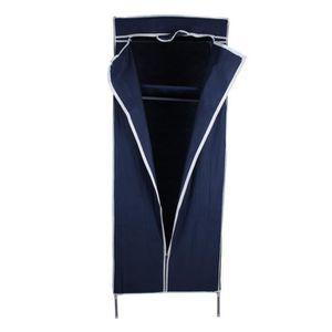 ARMOIRE Petite Armoire avec Porte-vêtement suspendu - bleu