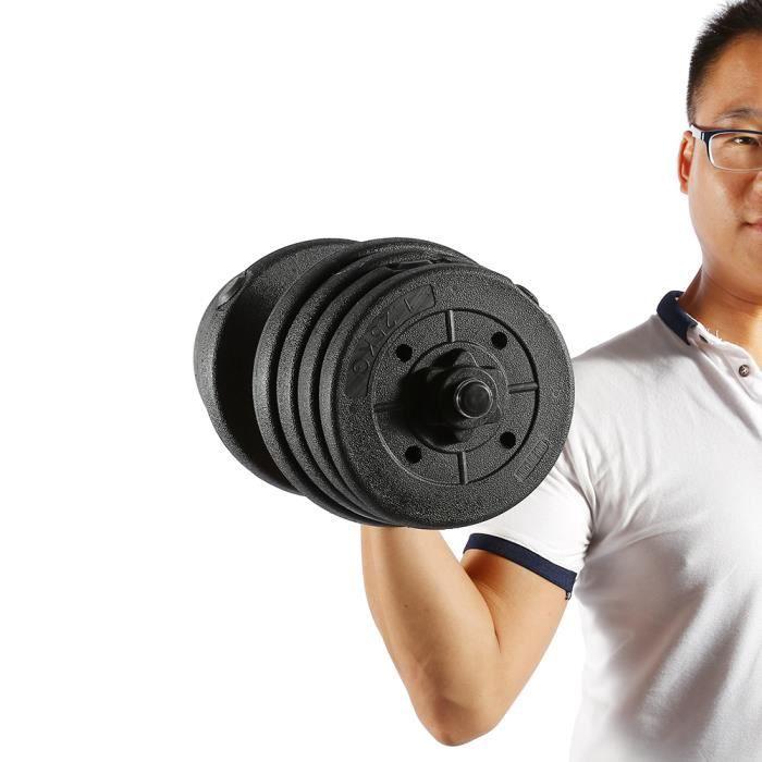 haltères mis en forme gym poids biceps triceps poids formation libres -30 kg -QNQ