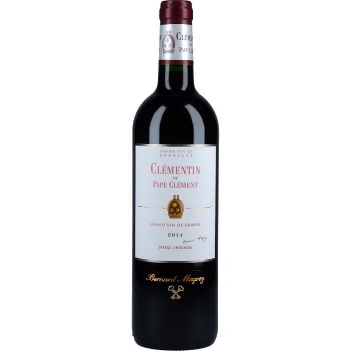 Vin Rouge - Clémentin du Château Pape Clément 2014 - Bouteille 75cl