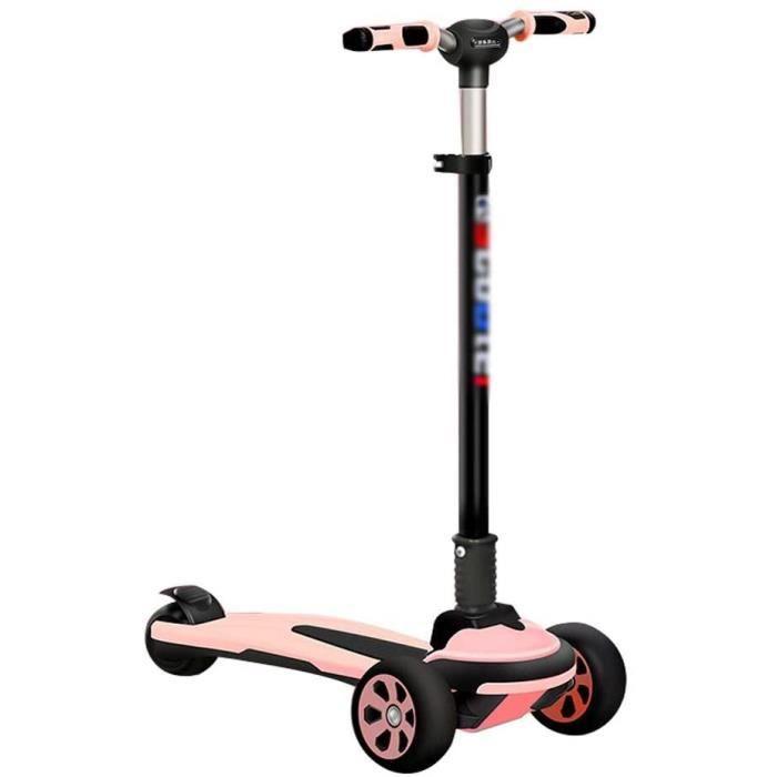 Trottinette pour enfants avec hauteur réglable - 3 roues lumineuses - Absorption des chocs - Pour enfants de 3 à 10 ans