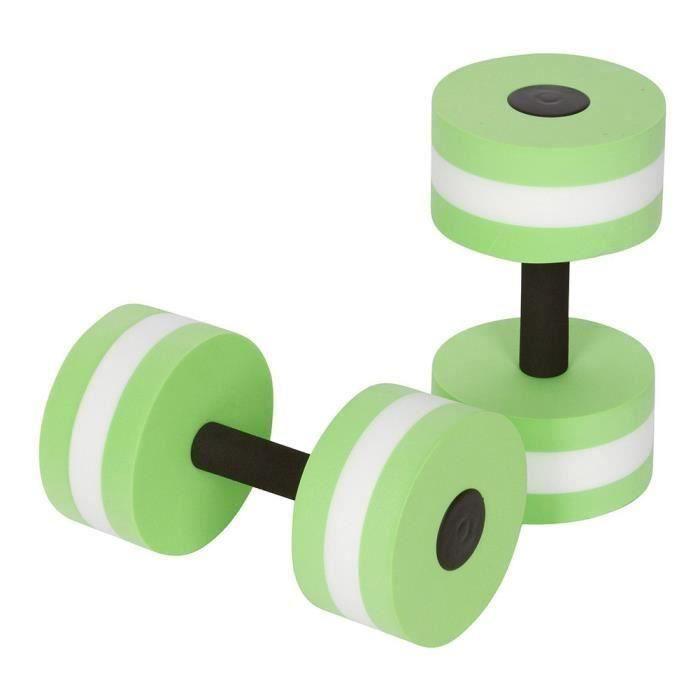 1 paire aquagym haltère aquatique EVA haltères aqua fitness piscine exercice accessoire vert Ma23119