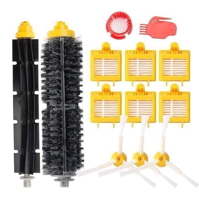 Remplaçant Filtres kit Pièces accessoires pour iRobot Roomba série pour 700 765 770 776p 780 782 782e 785 786 786p 790 Kit Brosse