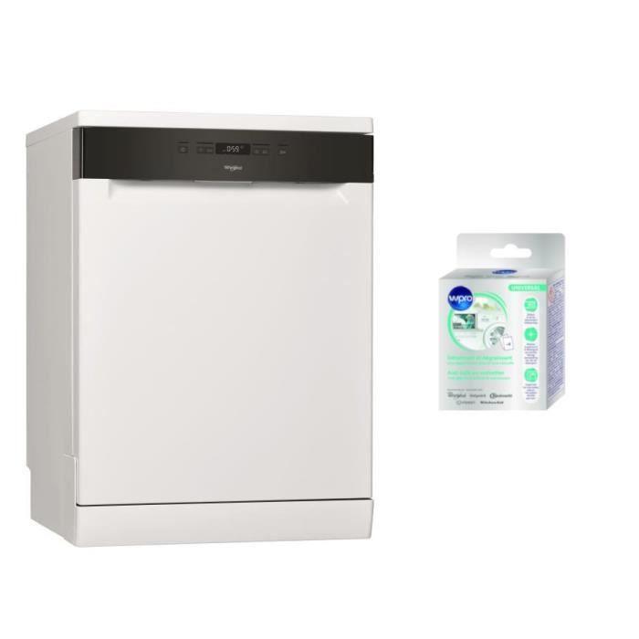 Pack WHIRLPOOL OWFC3C26 Lave-vaisselle posable - 14 couverts - A++ - 46 dB + Wpro DES616 Détartrant 3-en-1