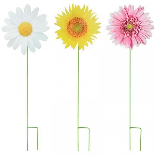 Fleurs sur pique (Lot de 3) Multicolore
