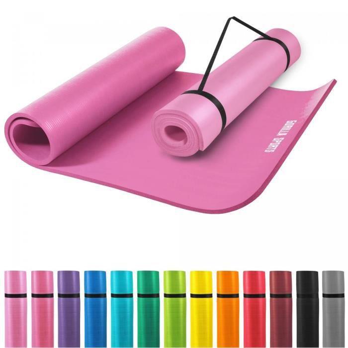 Tapis en mousse grand -190x100x1,5cm (Yoga - Pilates - sport à domicile) FUCHSIA