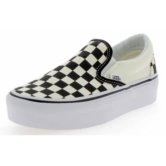 VANS - Vans Classic Slip On Chaussures de Sport Blanc Noir - (Noir - 35)