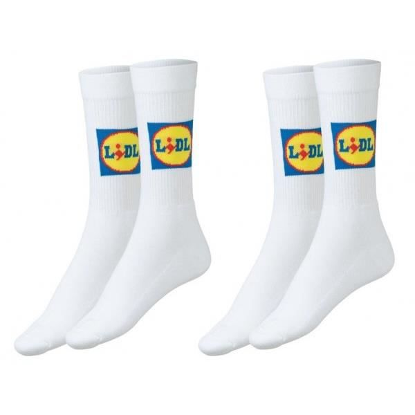 LOT PACK 2 PAIRES CHAUSSETTES LIDL TAILLE 43 44 45 46 EDITON LIMITEE