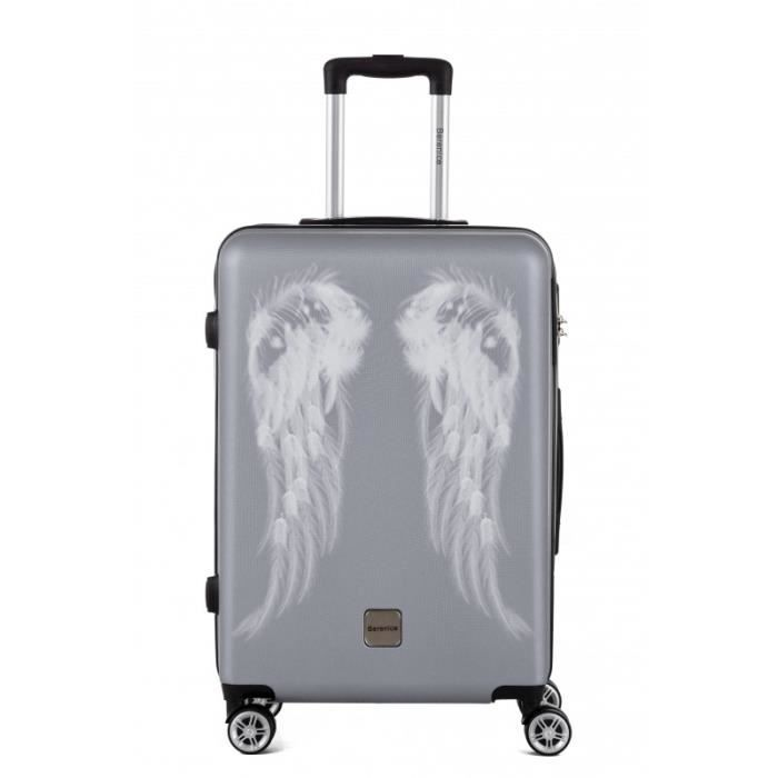 BERENICE - Valise trolley taille moyenne, valise soute - BAGAGE RIGIDE ABS - Argent - 4 Kg/37 Lt - gamme ATHENA