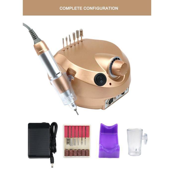 Fraise à ongles électrique professionnel Appareil de soin des ongles Ponceuse à ongles Pour manucure et pédicure professionnelles