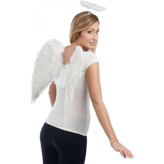 Autre Accessoire Deguisement Vendu Seul - Ailes d'ange en plumes blanches