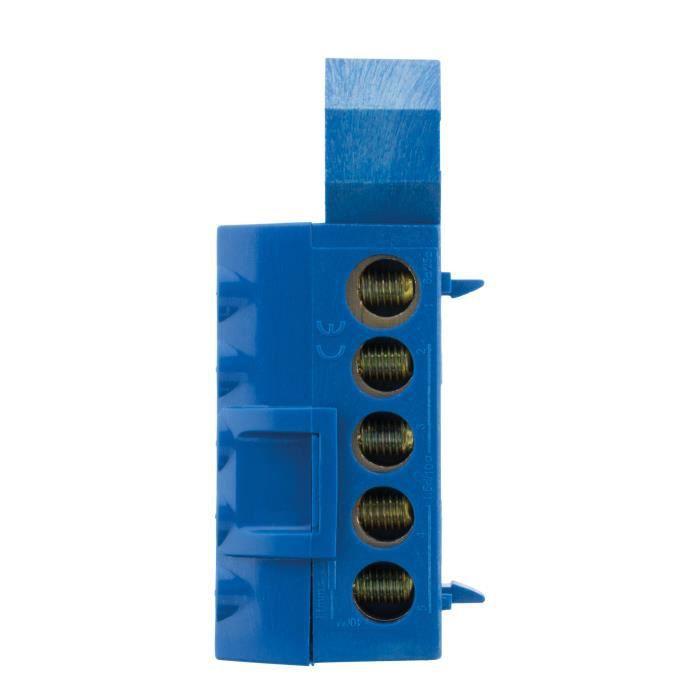THOMSON Bornier neutre - 6 connexions - Bleu