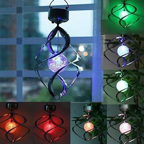 Energie Solaire Carillons Lumière Suspension DEL Jardin Lampe D/'extérieur Couleur Changeante