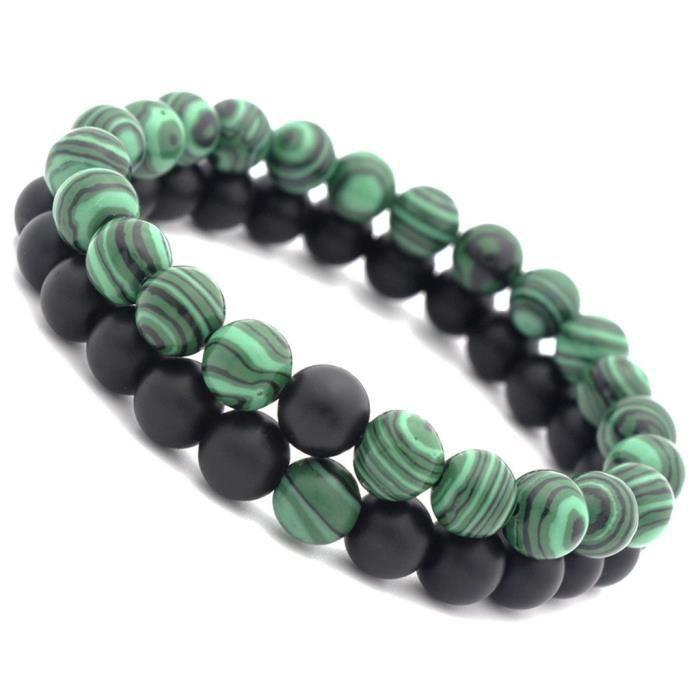 Naturel Hématite Gemme Multicolore Perles Strechy bracelet 11 mm large