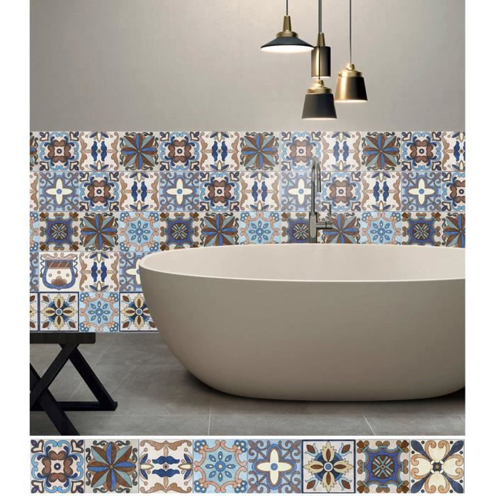 hc 20cm x 20cm x 5m maroc carrelage sticker autocollant film adhesif mural imperm able. Black Bedroom Furniture Sets. Home Design Ideas