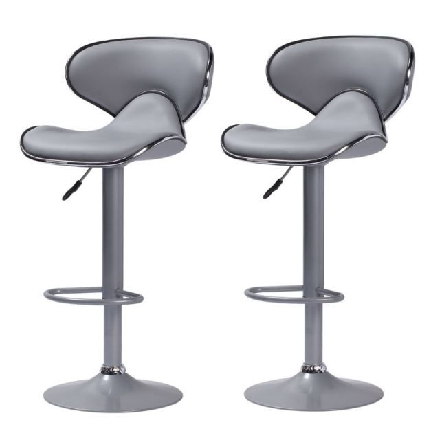 tabouret de bar cobra x2 gris edition achat vente tabouret de bar gris cdiscount. Black Bedroom Furniture Sets. Home Design Ideas
