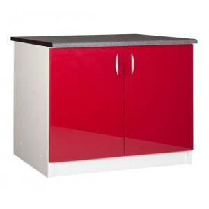 Meuble Sous Evier 120cm Rouge