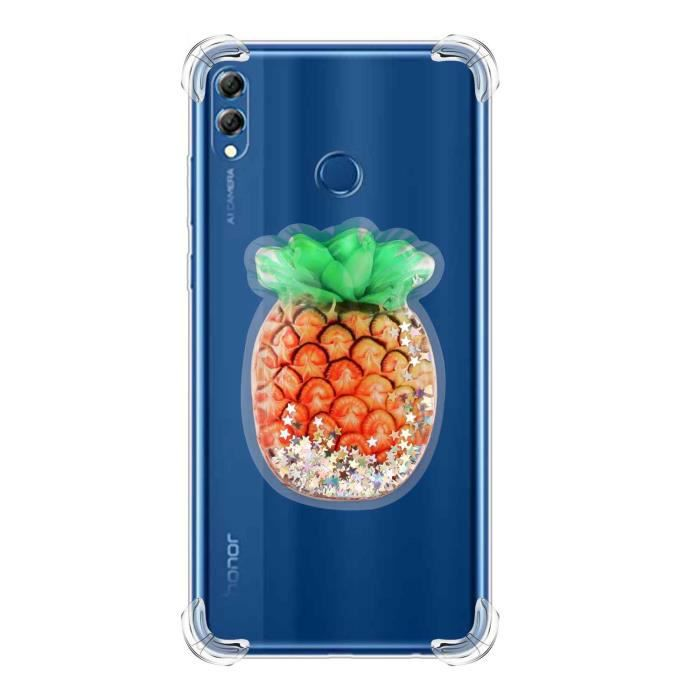 Coque HUAWEI P Smart 2019,Ananas Coussin d'air Souple Anti Rayure ...