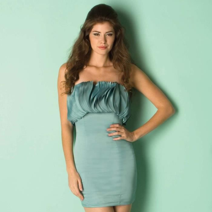 robe femme opulence by layered circle the shoulder vert achat vente robe cdiscount