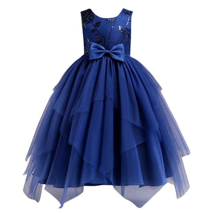 Eozy Robe De Soiree Fille Robe De Ceremonie Sans Manche Enfant Fille Mariage Bapteme Cocktail Bleu Bleu Achat Vente Robe De Ceremonie Cdiscount