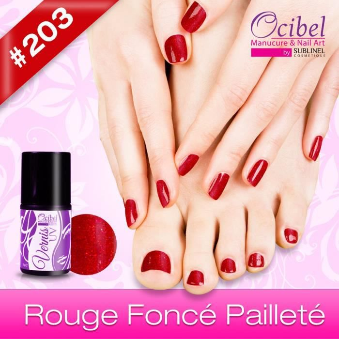 vernis uv semi permanent 11 ml rouge fonc pa achat vente vernis a ongles vernis uv semi. Black Bedroom Furniture Sets. Home Design Ideas