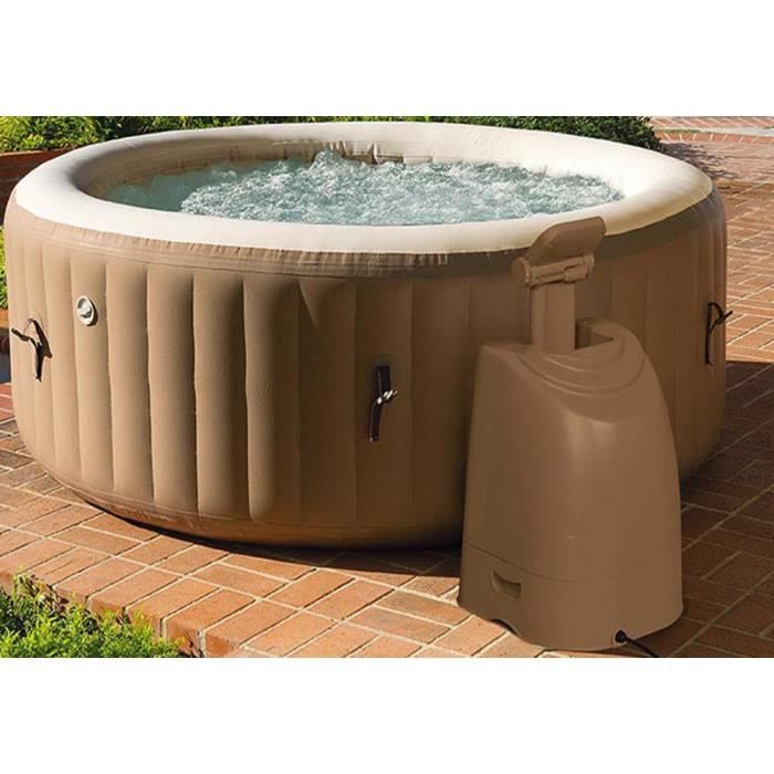 Spa jacuzzi gonflable rond coloris brun capacit 795 - Jacuzzi gonflable occasion ...