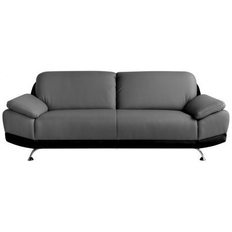 canap fixe 3 places switsofa city noir gris achat. Black Bedroom Furniture Sets. Home Design Ideas