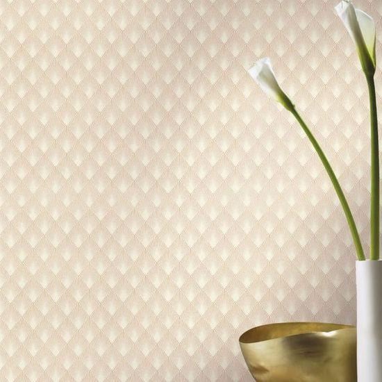 Nappes Papier peint papier peint art Diamant Ornement Fleurs Rose Bleu 13n2496vexxl