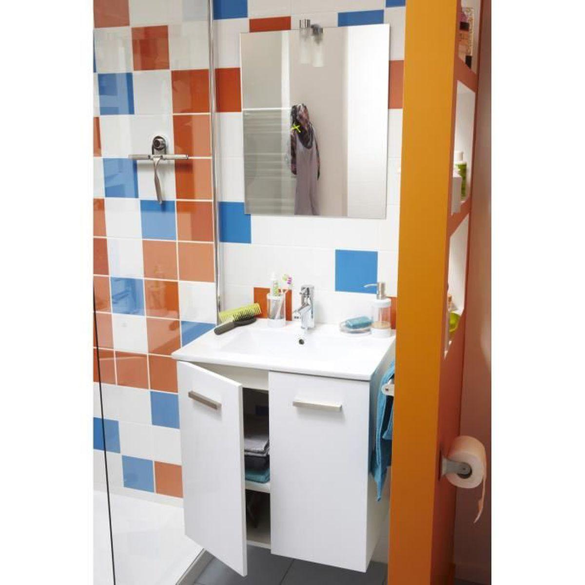 Meuble Vasque Leroy Merlin meuble sous vasque dado avec miroir intÉgrÉ - achat / vente