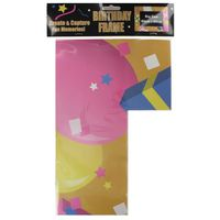 KIT DE DECORATION Large Card Photo Frame Happy Birthday Party Person